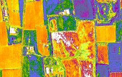 immagine multispettrale di una discarica ad Inzago (MI)